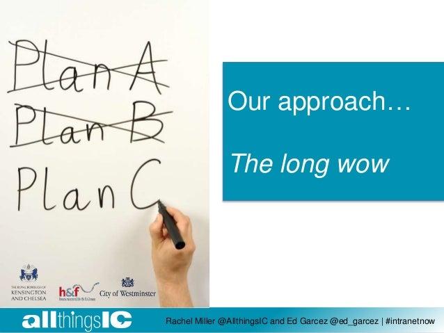 Rachel Miller @AllthingsIC and Ed Garcez @ed_garcez | #intranetnow Our approach… The long wow
