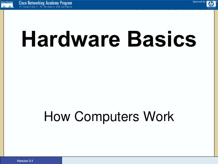 Hardware Basics How Computers Work