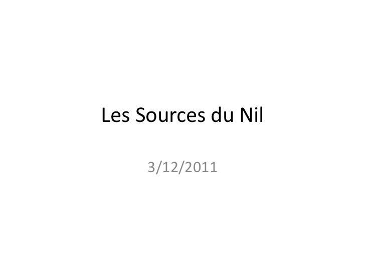 Les Sources du Nil     3/12/2011