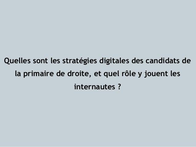 Les strat gies digitales des candidats aux primaires de la - Quelles sont les couleurs primaires ...