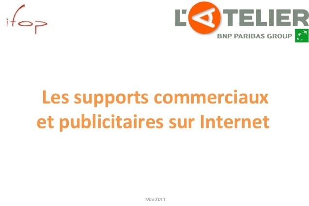Mai 2011 pour Les supports commerciaux et publicitaires sur Internet