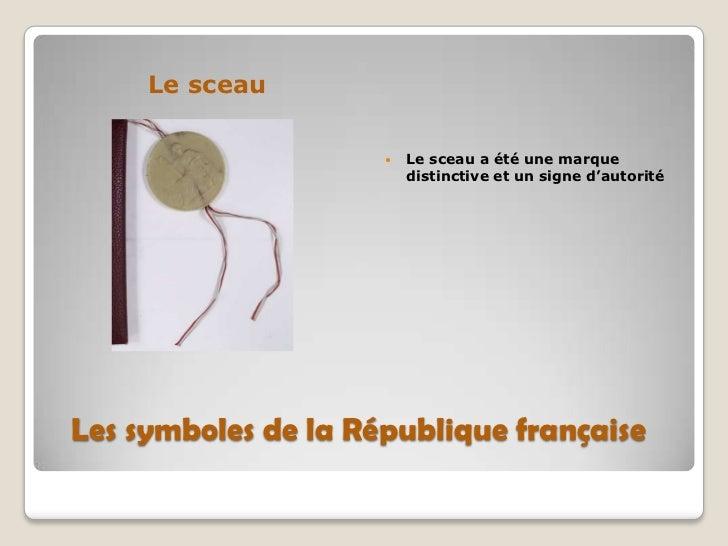 le sceau de la republique francaise