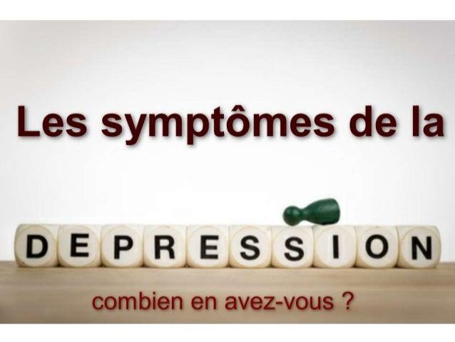 Les symptômes de la dépression