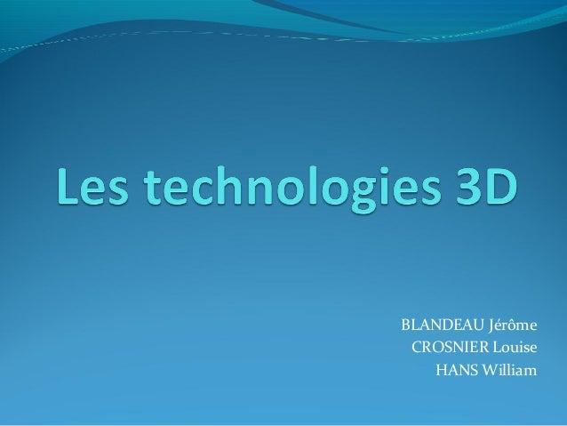 BLANDEAU Jérôme CROSNIER Louise   HANS William