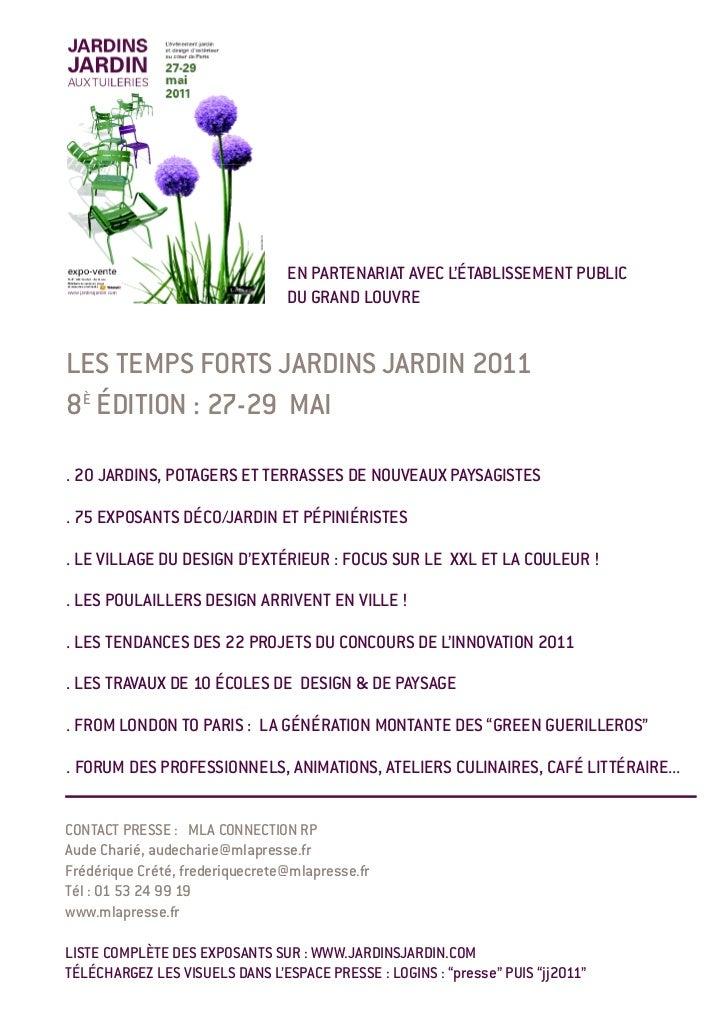 EN PARTENARIAT AVEC L'ÉTABLISSEMENT PUBLIC                                 DU GRAND LOUVRELES TEMPS FORTS JARDINS JARDIN 2...