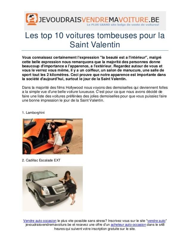 """Les top 10 voitures tombeuses pour la             Saint ValentinVous connaissez certainement lexpression """"la beauté est a ..."""