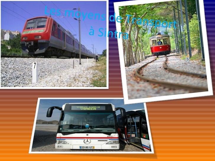 Les moyens de Transport à Sintra