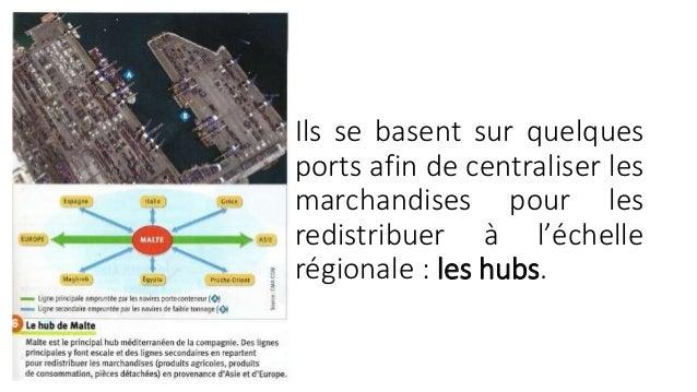 III. UNE NOUVELLE GEOGRAPHIE DES ECHANGES  MARITIMES:  Quels sont les principaux pôles du commerce  mondial ?  Les trois p...