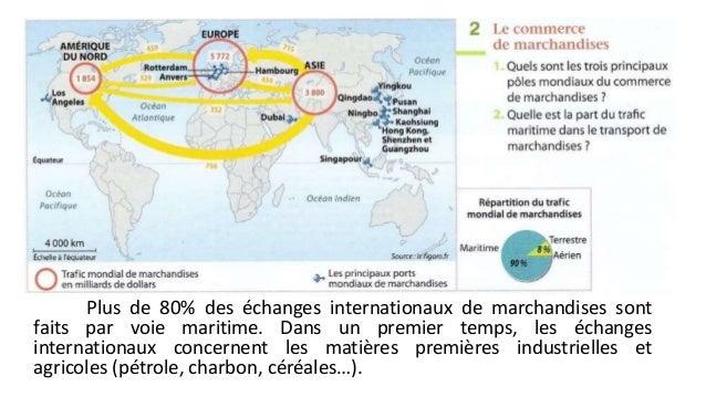 Plus de 80% des échanges internationaux de marchandises sont  faits par voie maritime. Dans un premier temps, les échanges...