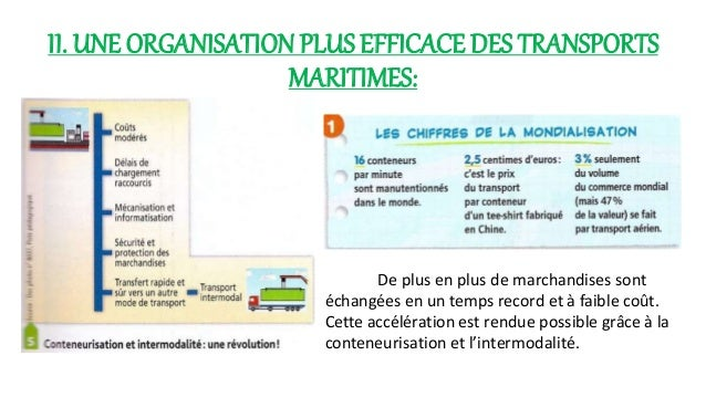 Les porte-conteneurs  transportent les 2/3 des  marchandises et gagnent  tous les moyens de  transport.