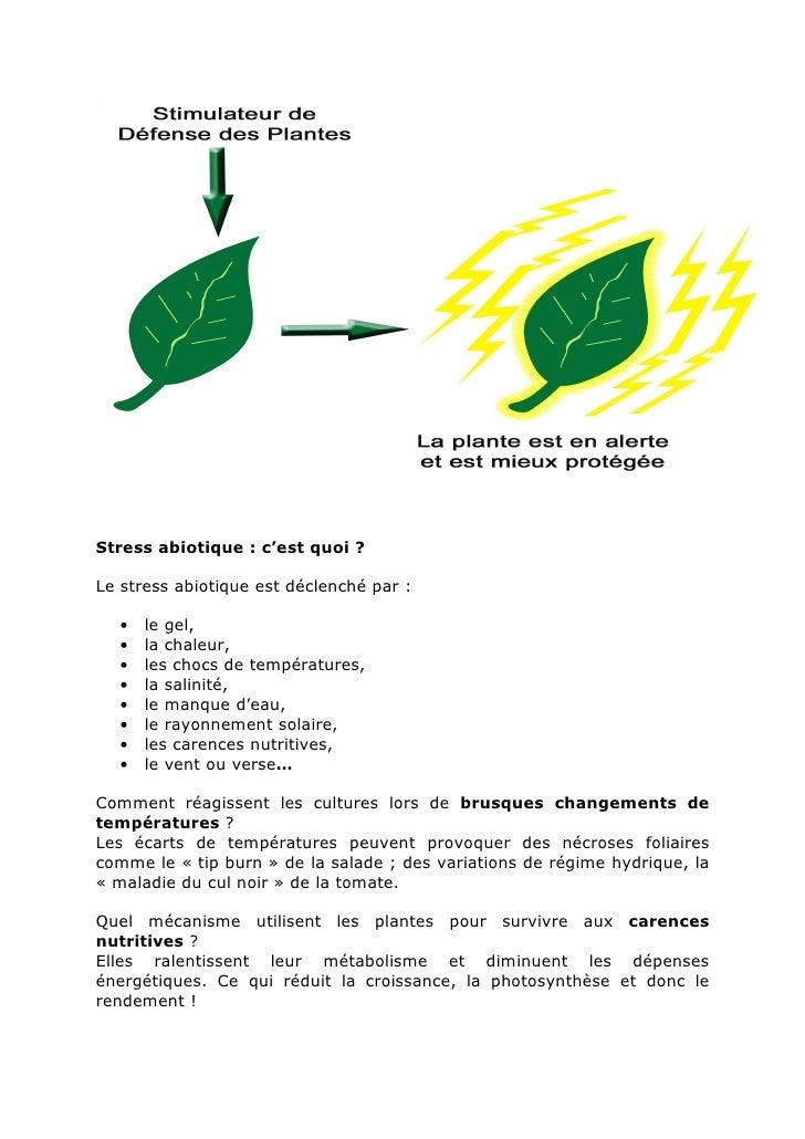Le stress des plantes des solutions for Le stress