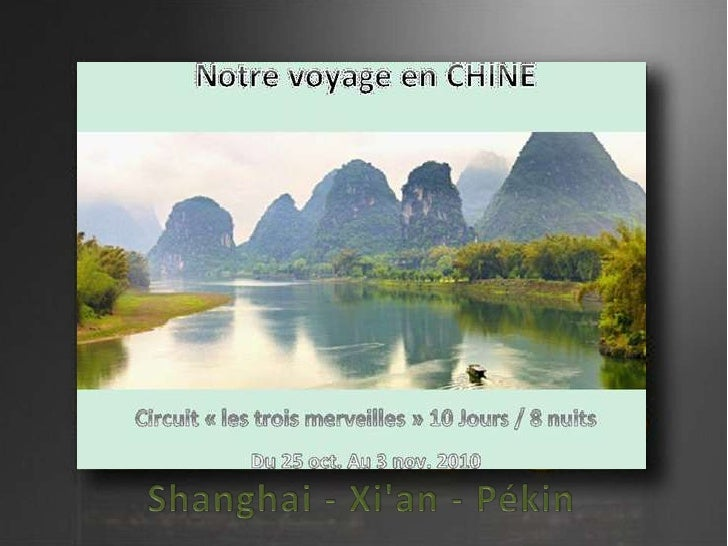 Les trois merveilles de la chine shanghaï   x'ian - pékin