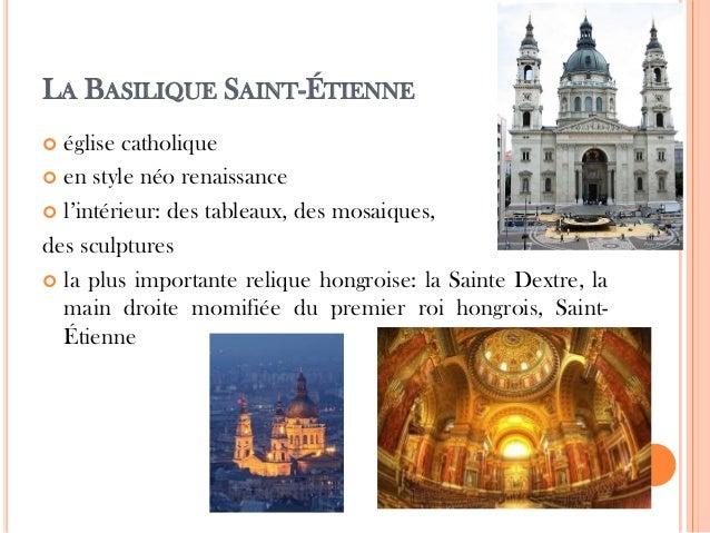 LA BASILIQUE SAINT-ÉTIENNE  église catholique  en style néo renaissance  l'intérieur: des tableaux, des mosaiques, des ...