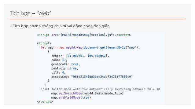 """Tích hợp – """"Web"""" - Tích hợp nhanh chóng chỉ với vài dòng code đơn giản"""