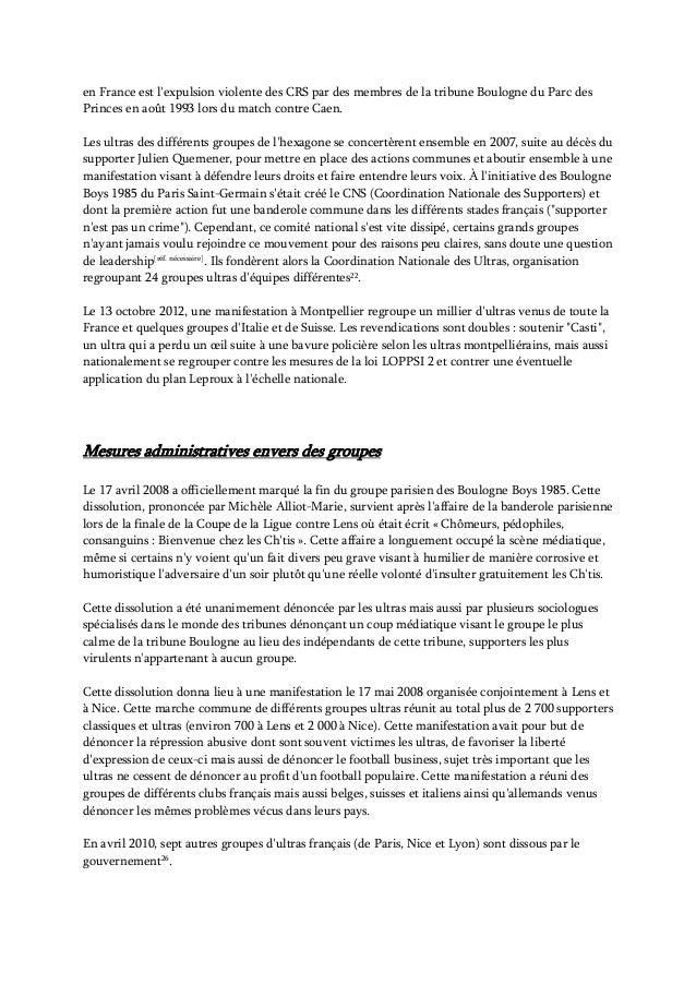 Les Ultras dans le sport en France Slide 2