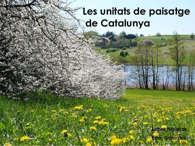 Les unitats de paisatge de Catalunya              Esther Piqueras              Ester Gonzalez