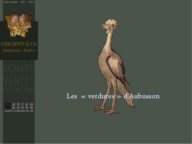 Les «verdures» d'Aubusson
