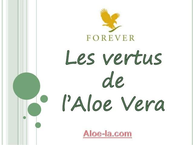 1 Les vertus de l'Aloe Vera INTERNE √ Est source de vitamines et minéraux √ Favorise une digestion saine √ Stimule la croi...