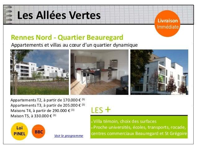 LesTerrassesduLandry Livraison RennesSudEst‐ QuartierPoterie/Landry Livraison Immédiate Appartements bordés par ...
