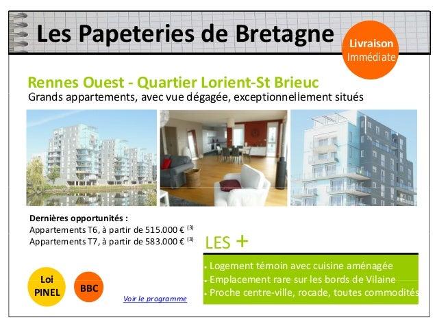 LesTerrassesduParc Livraison RennesStJacques‐ LaCourrouze Livraison Immédiate b l b ll d é é idAppartements aux be...