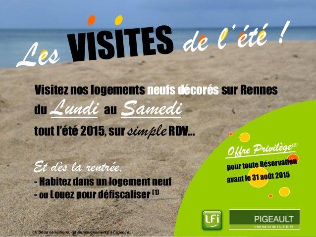 Visitez nos logements neufs décorés sur Rennes Et dès la rentrée, - Habitez dans un logement neuf - ou Louez pour défiscal...