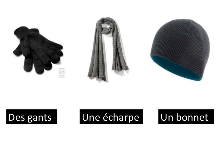 Des gants   Une écharpe   Un bonnet