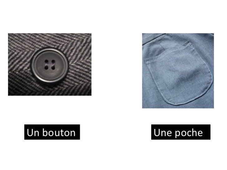 Un bouton   Une poche