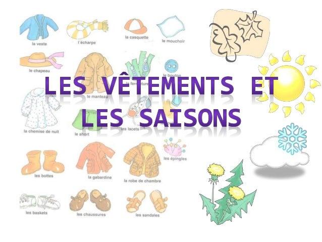 Les v tements et les saisons - Les vetements d hiver ...