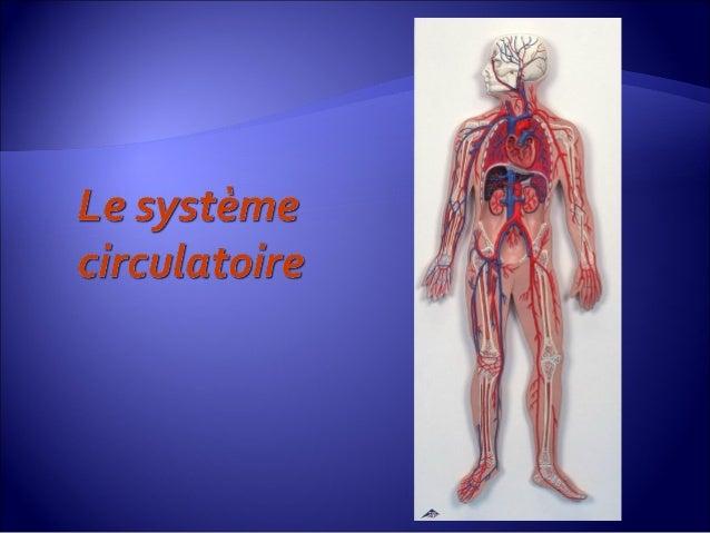  Du sang : Liquide transportant les nutriments, l'oxygène et les déchets.  Le système circulatoire est constitué :  Du ...
