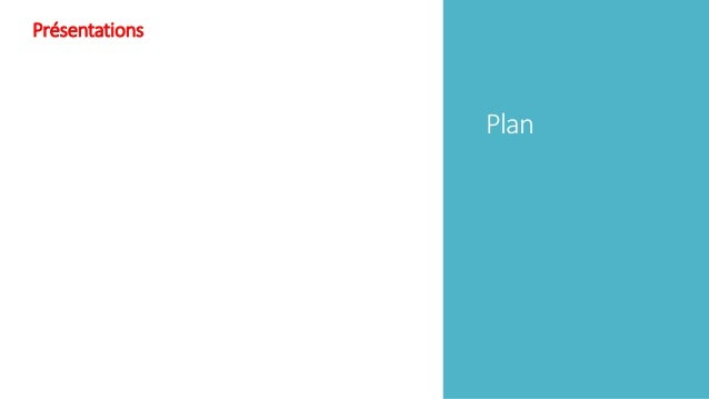 Plan Présentations