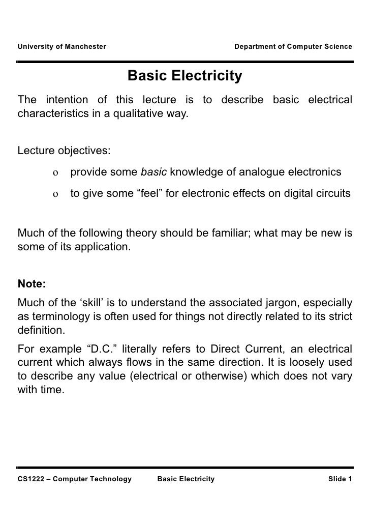 Let basic electricity
