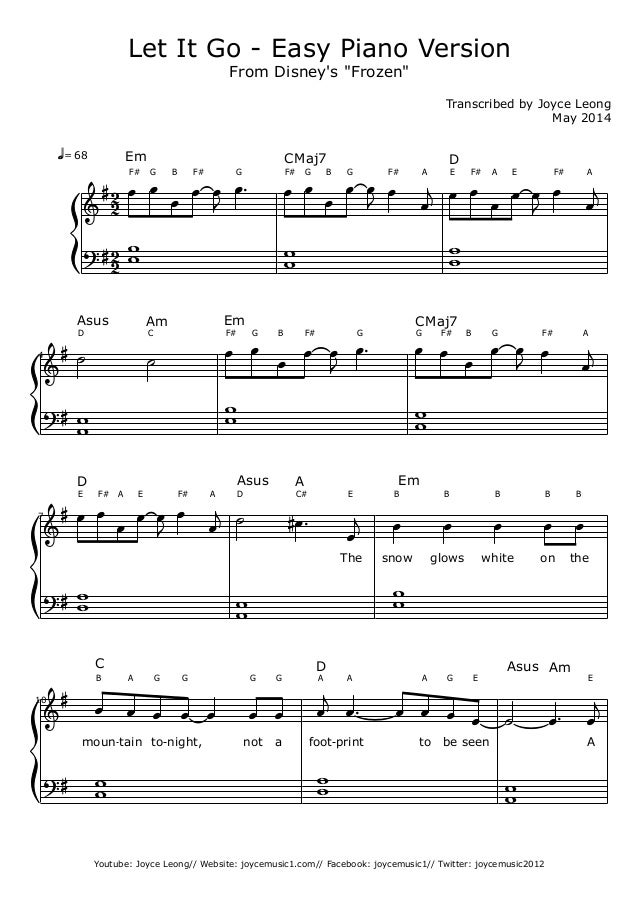 let it go james bay piano chords