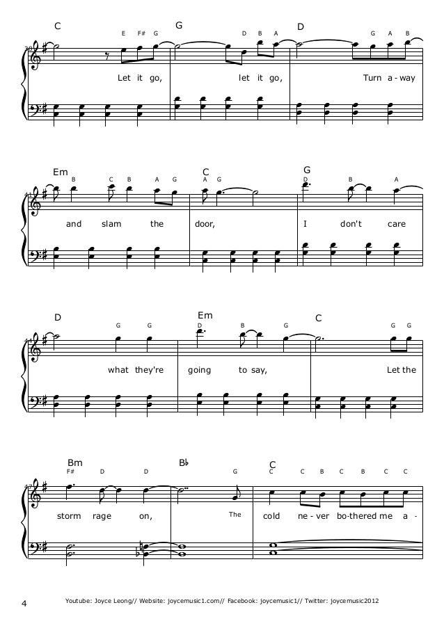 Let It Go Easy Piano