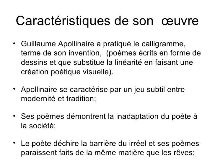 Littérature Française Iii Apollinaire Présentation Erika