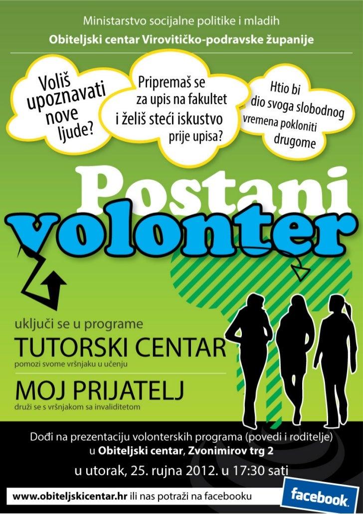 letak Postani volonter