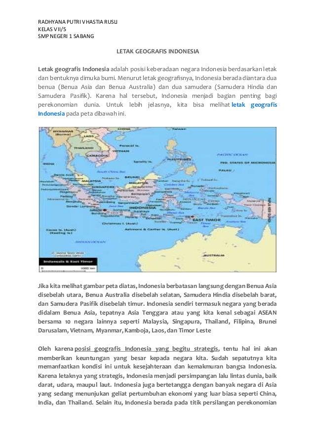 Letak Geografis Indonesia Smp 1 Kelas Vii 5 Sabang Radhyana
