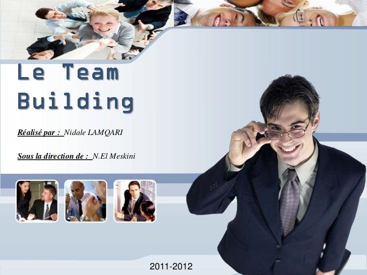 Réalisé par : Nidale LAMQARISous la direction de : N.El Meskini                                      2011-2012