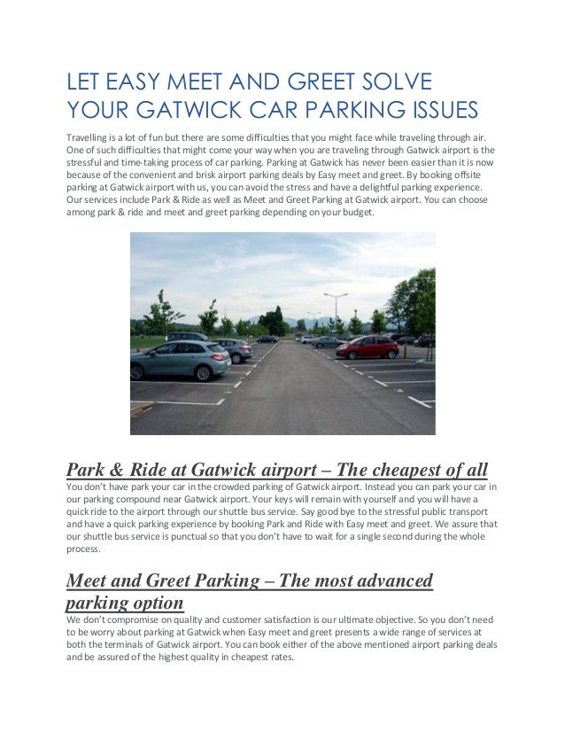Let easy meet and greet solve your gatwick car parking issue let easy meet and greet solve your gatwick car parking issues travelling is a lot of m4hsunfo
