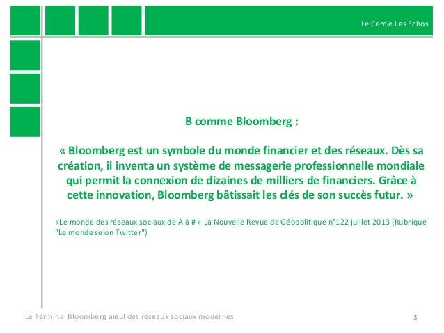 Le Terminal Bloomberg aïeul des réseaux sociaux modernes Slide 3