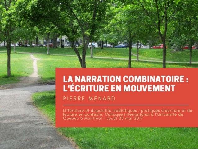 Narration combinatoire : Le texte en mouvement