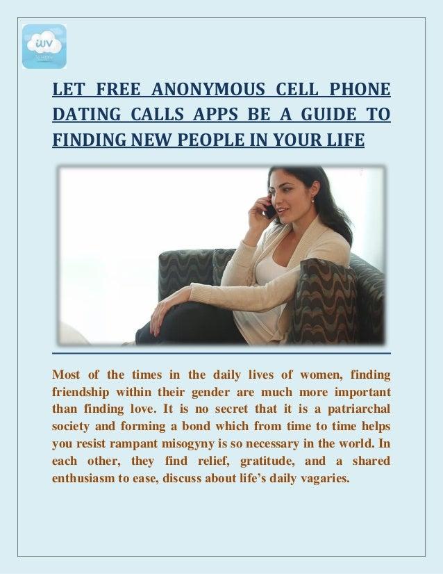 free dating phone