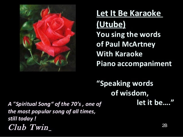 Let It Be Song All Time Favorite Paul M 1968