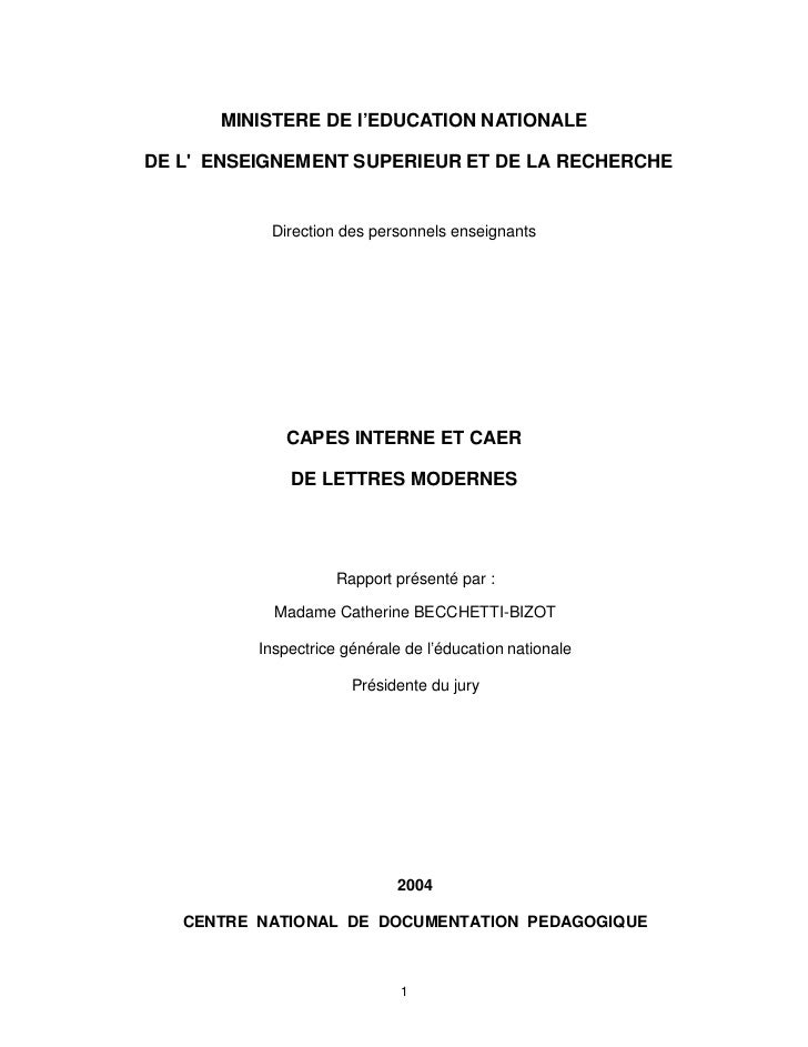 MINISTERE DE l'EDUCATION NATIONALEDE LENSEIGNEMENT SUPERIEUR ET DE LA RECHERCHE           Direction des personnels enseign...