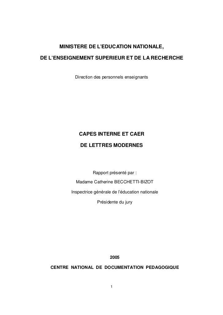 CAPES TÉLÉCHARGER CONVOCATION