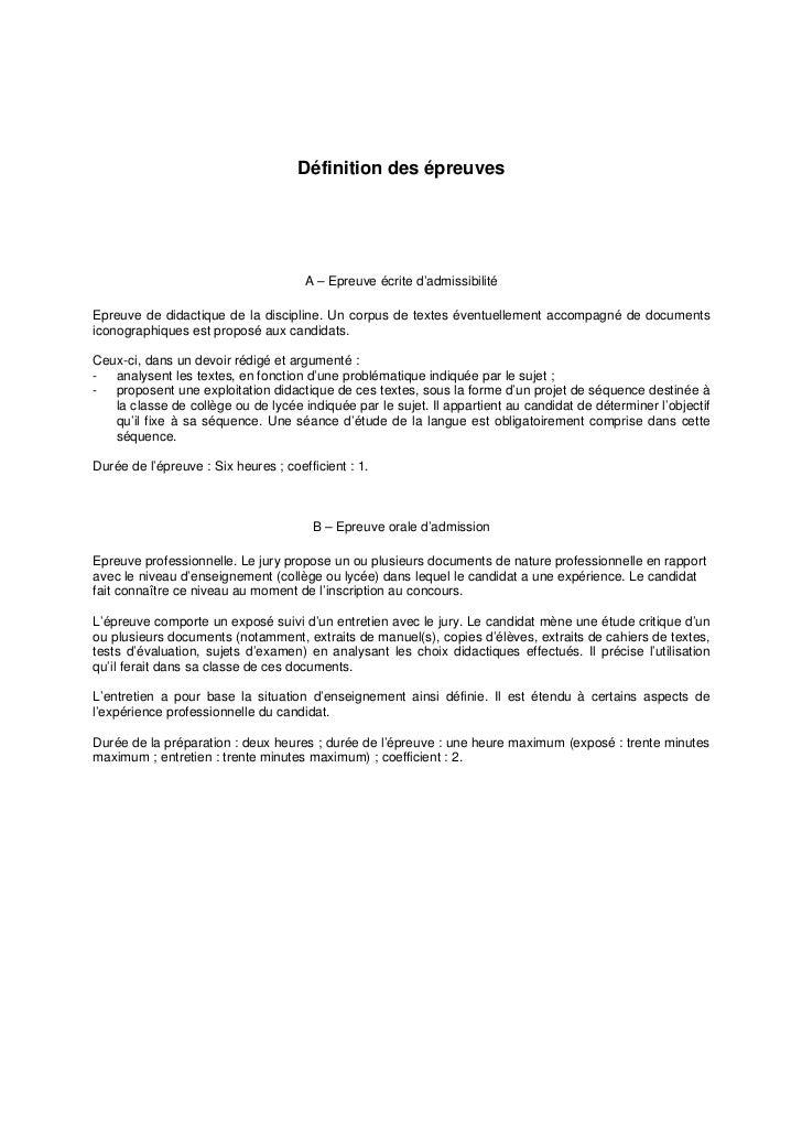 Dissertation Didactique Capes Interne
