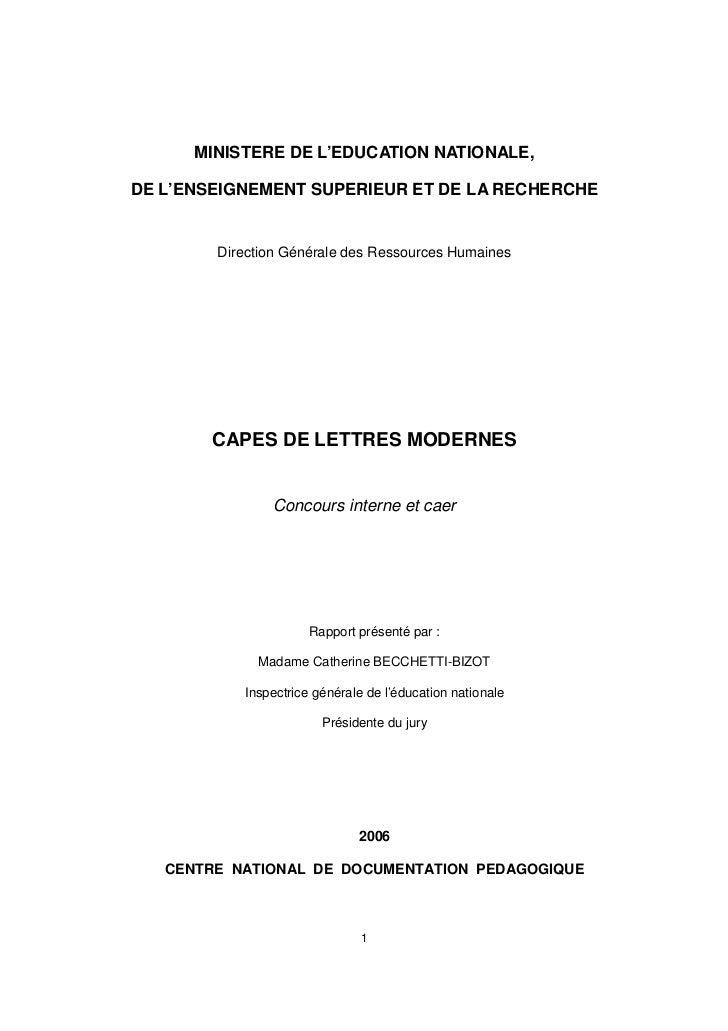 MINISTERE DE L'EDUCATION NATIONALE,DE L'ENSEIGNEMENT SUPERIEUR ET DE LA RECHERCHE        Direction Générale des Ressources...