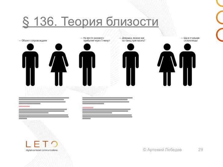 § 136. Теория близости                   © Артемий Лебедев   28
