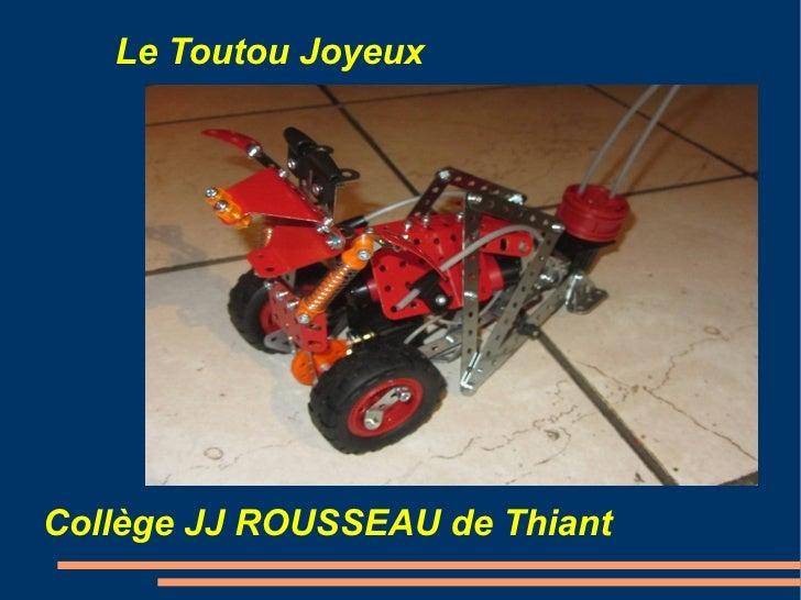 Le Toutou Joyeux                 TitreCollège JJ ROUSSEAU de Thiant