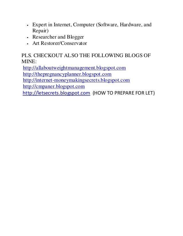 Expert in Internet, Computer (Software, Hardware, andRepair)Researcher and BloggerArt Restorer/ConservatorPLS. CHECKOUT AL...