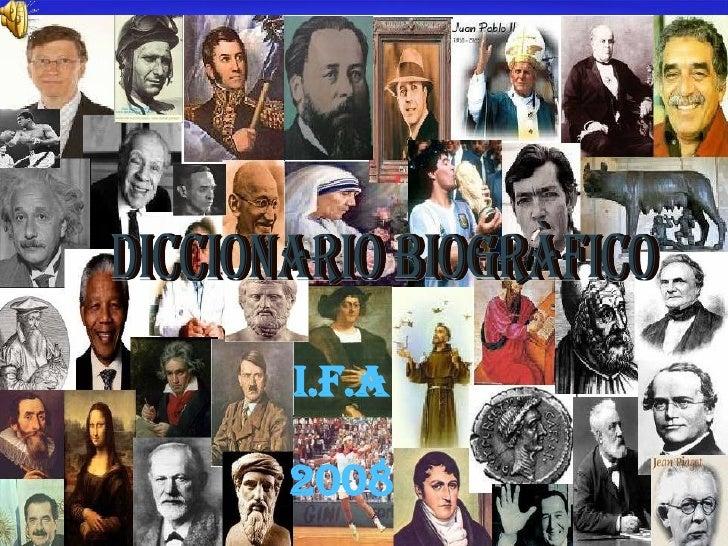 DICCIONARIO BIOGRÀFICO I.F.A 2008